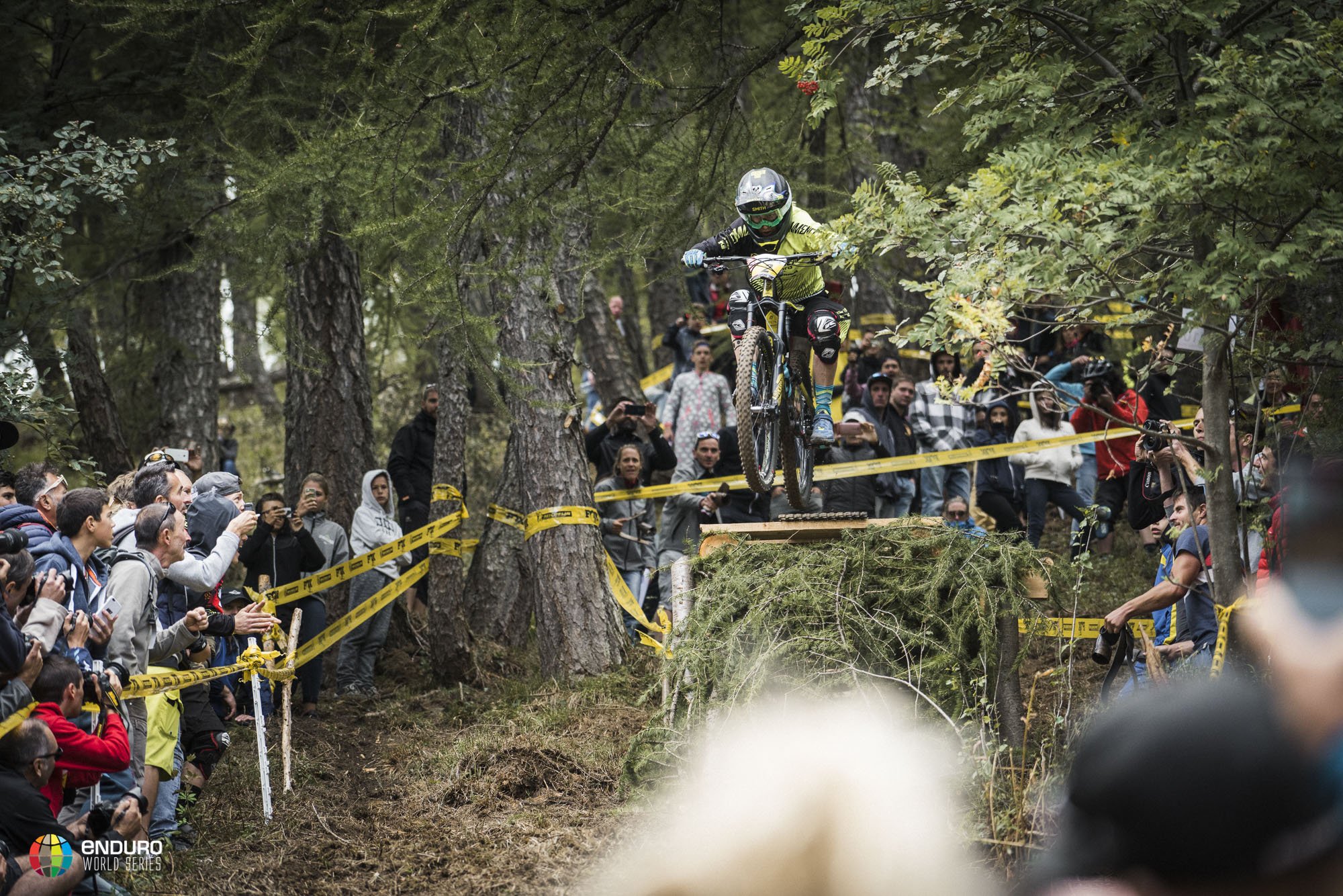 Cecile Ravanel (Commencal Vallnord Enduro Team) has won six races this year, giving the Frenchwoman an insurmountable lead in the overall standings. Photo courtesy Enduro World Series