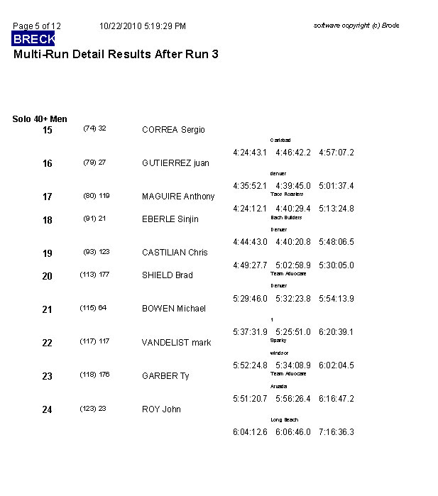 Multi-Run Results after Run 3 page 5