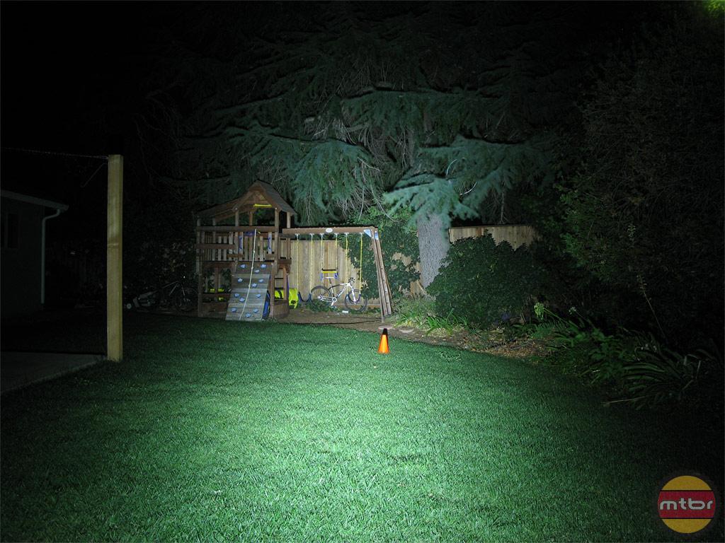 Exposure Lights MaxxD Backyard Beam Pattern
