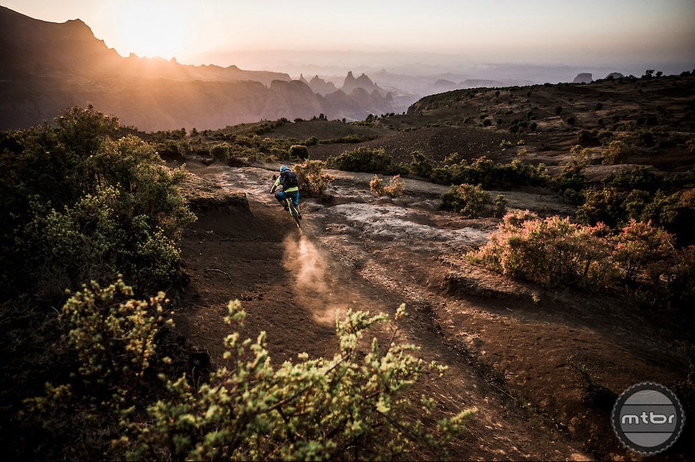 """An expedition to find out whether the land famous for being the """"cradle of mankind"""" could someday be a mountain bike paradise. Photo by Dan Milner"""