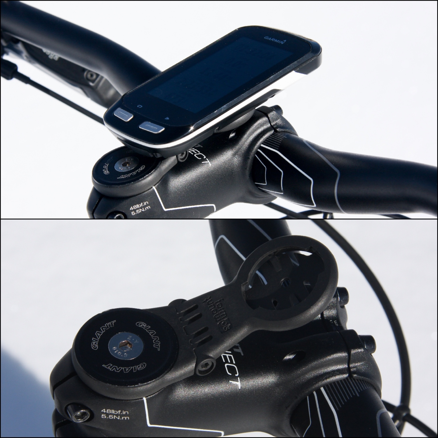 This 13-gram carbon fiber device holder provides an easy solution for riders who prefer an over-the-stem mount. Photos by Jason Sumner