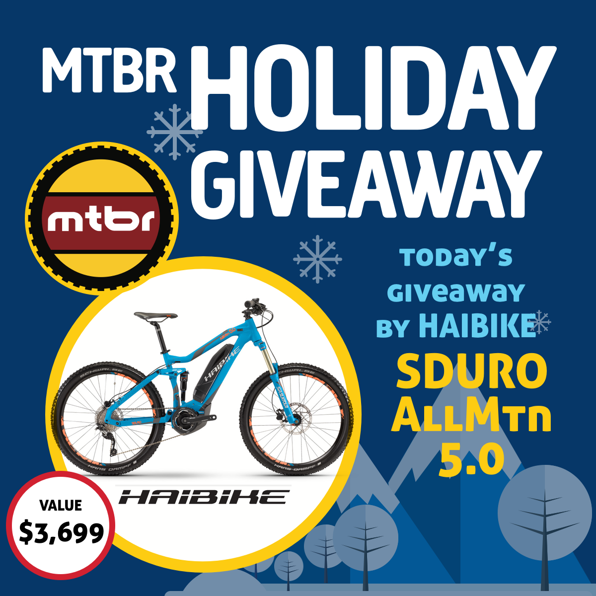 Haibike Holiday Giveaway 2017 Day 7