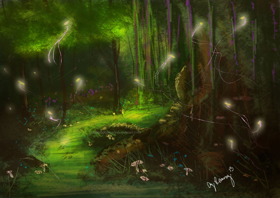 did you ride today?-fairy_forest_speed_painting_by_amandaramsey-d5s03v9.jpg