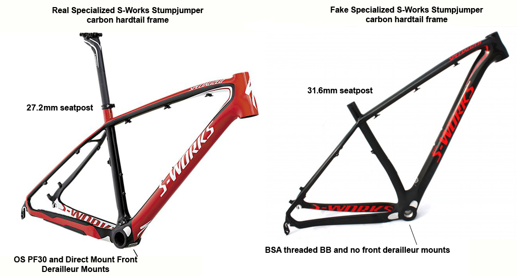 Fake Specialized S-Works Stumpjumper Carbon Hardtail Frames- Mtbr.com