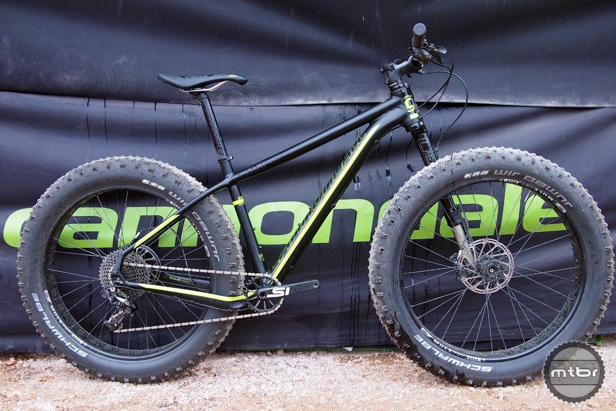 Cannondale brings their CAAD aluminum frame to fat bikes for 2016.