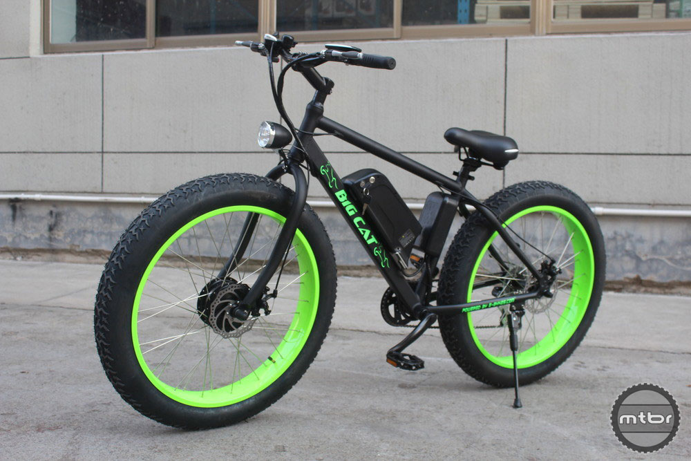 Big Cat E-Bykes men's electric Fat Cat all terrain mountain bike.