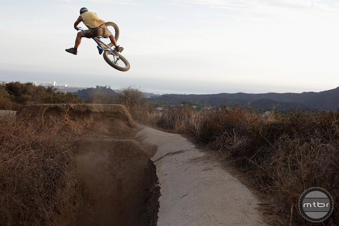 The geometry of the Fat Ripper lends itself to wheelies, dirt jumps, and sending it.