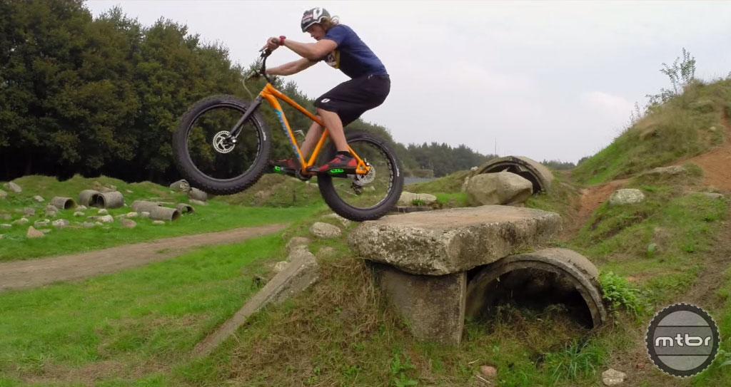 Rick Koekoek shreds on a fat bike.