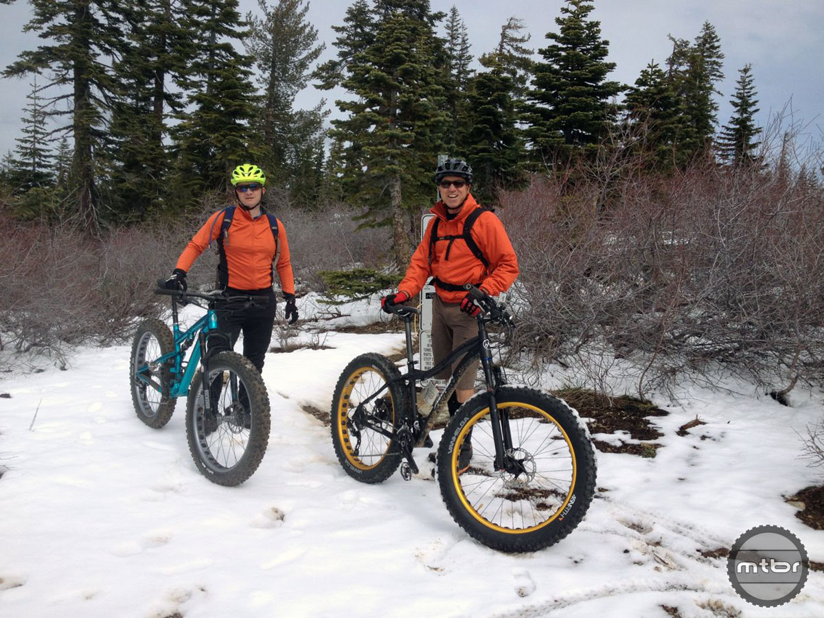 These two fat bikers got fresh tracks on Sunrise Trail.