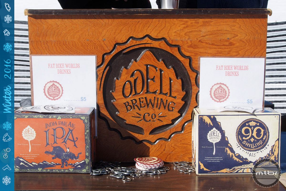 Odell Brewing is pouring adult beverages all weekend. Yum...