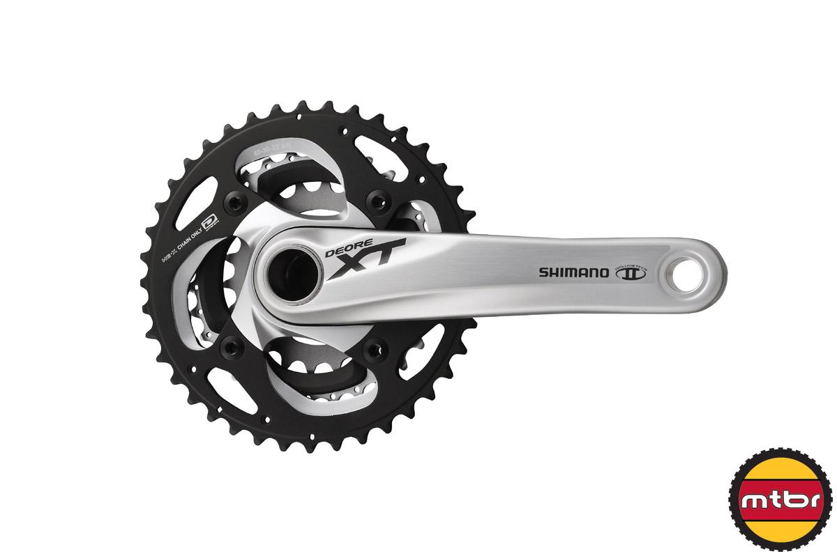 2014 Shimano XT crank (silver) 3x