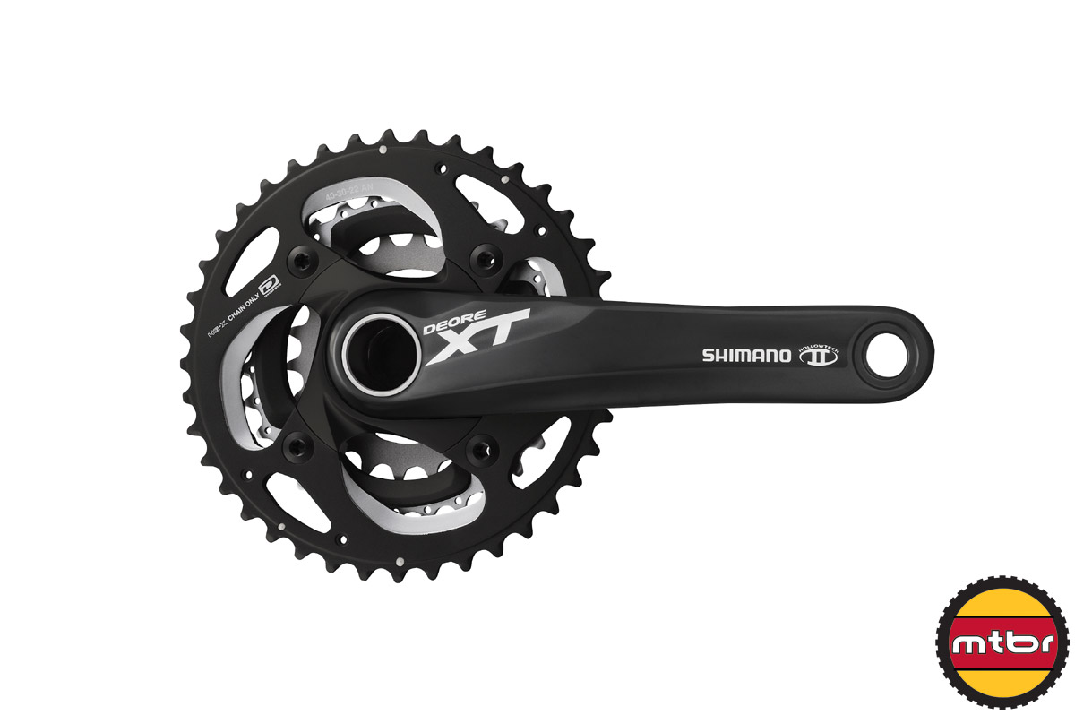 2014 Shimano XT crank (black) 3x