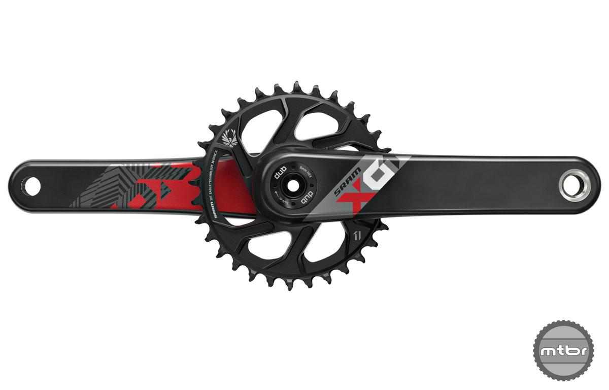 SRAM X01 carbon red DUB Crankset