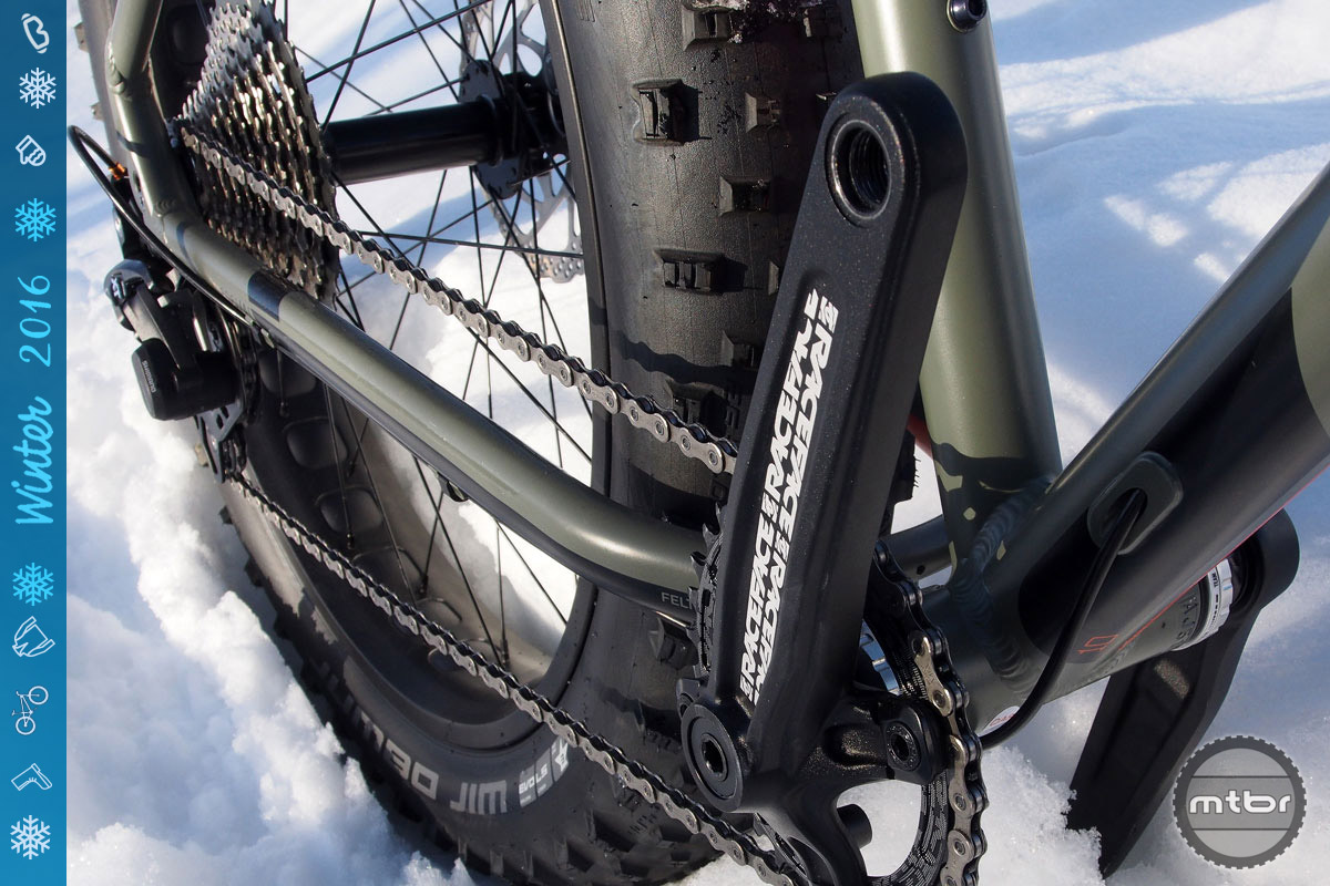We love the simplicity of the 1x set-up, but the 30t chainring combined with the 11-40 cassette is a tad tall.