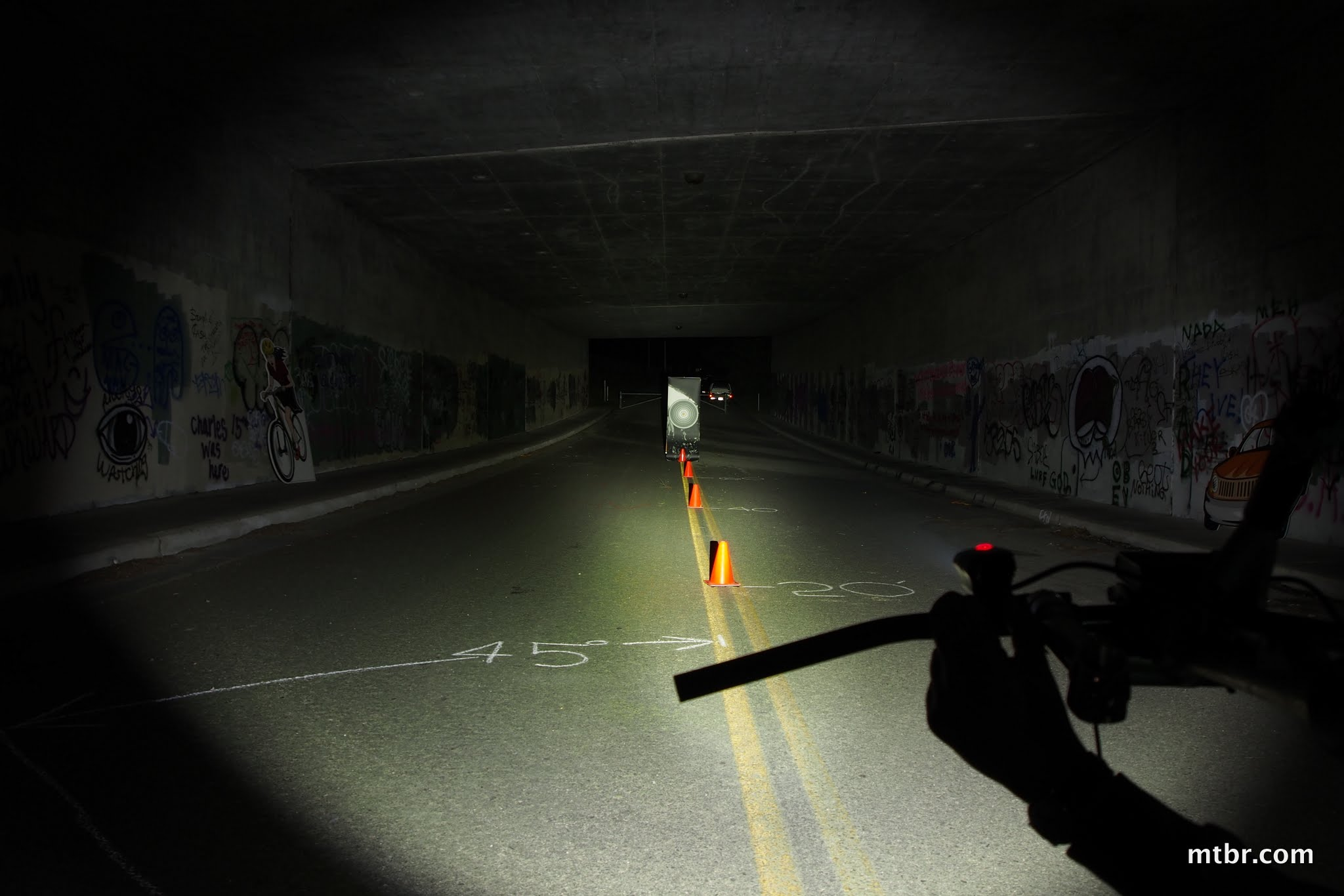 Fenix BT20 Tunnel Beam Pattern