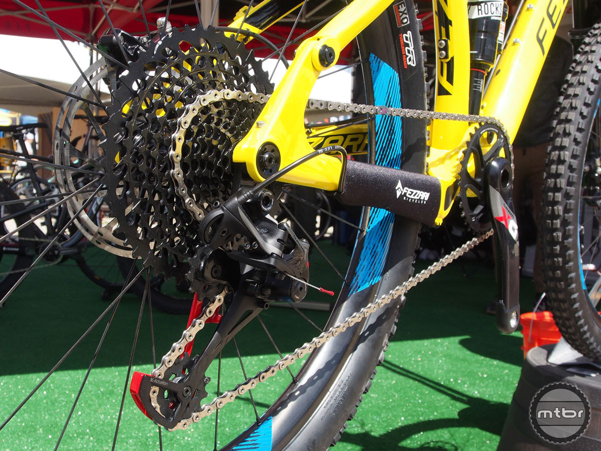SRAM's new ultra wide-range Eagle drivetrain is optional spec on this well-appointed 27.5 trail bike.