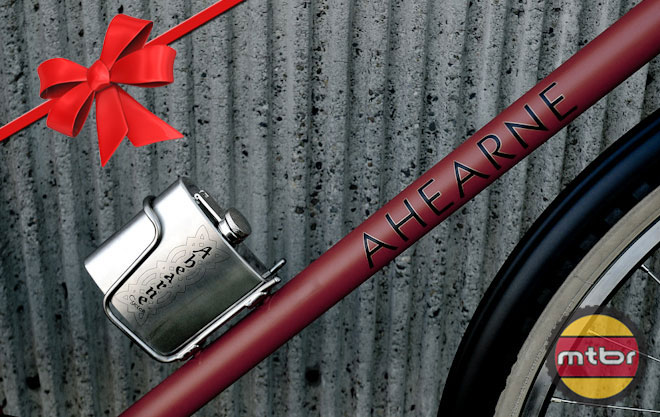 Ahearne Cycles Spaceman Flask and Holder
