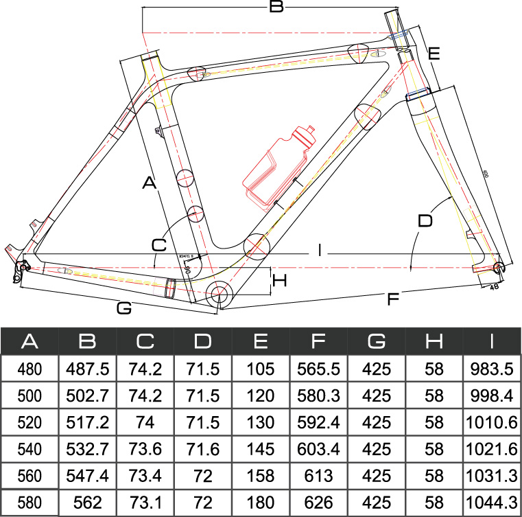 Chinese carbon cyclocross frame model list - info and geometry-fm059-geometry.jpg