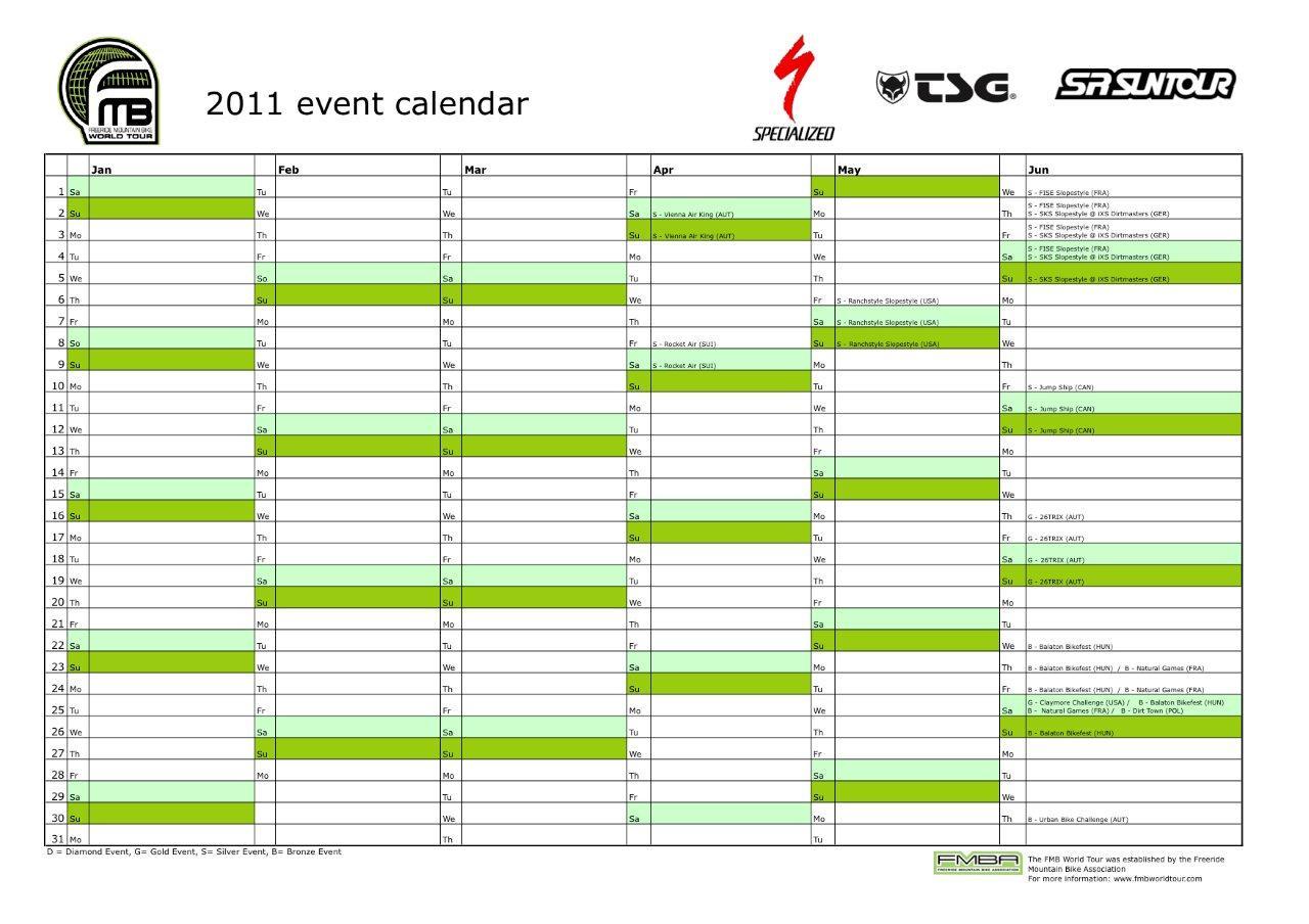 FMBWT calendar Jan-Jun