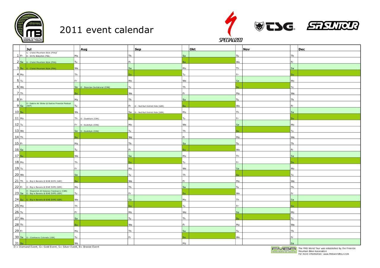 FMBWT calendar Jul-Dec