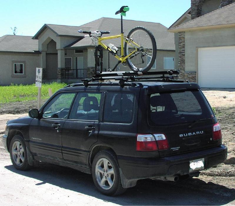 Subaru Forester Roof Rack Bike >> Roof Or Hitch Subaru Forester Mtbr Com