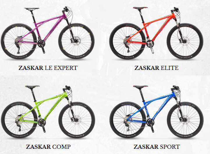 The four alloy models are the LE Expert, Elite, Comp and Sport.