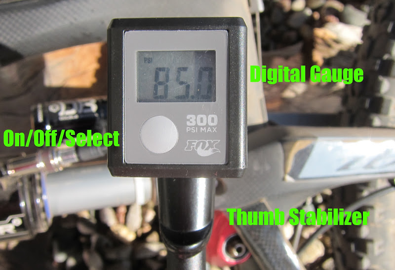 Fox High Pressure Digital Shock Pump Readout