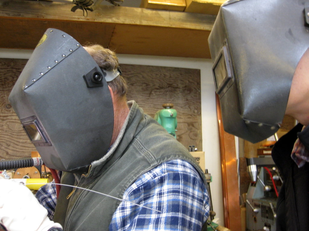 First and last time I'll probably ever be wearing a welding mask.