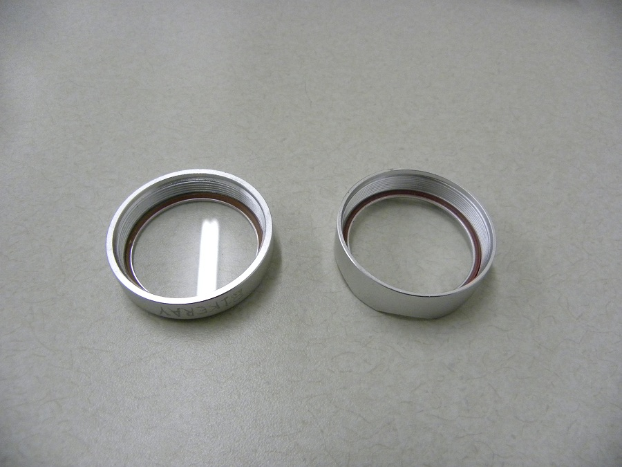 900 Lm Bike Ray I & II on Special deal  by BikeRay USA-front-ring-comparison.jpg