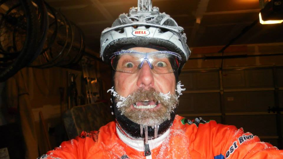 This year's first winter snow ride passion - No winter blues here!-frozen-beard.jpg