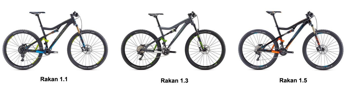 The Fuji Rakan lineup: Rakan 1.1, 1.3 and 1.5.