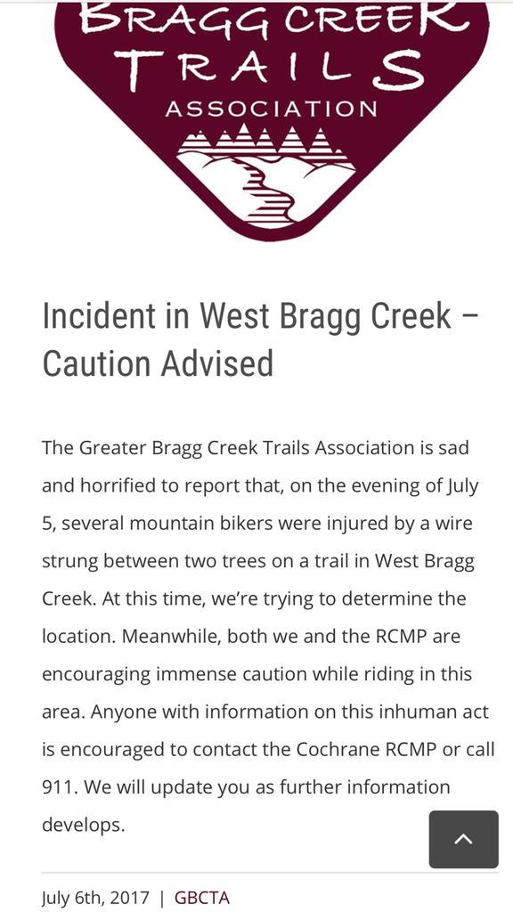 CAUTION - West Bragg Creek - Reports of Strung Wire Injuring Bikers-fullsizeoutput_15.jpg