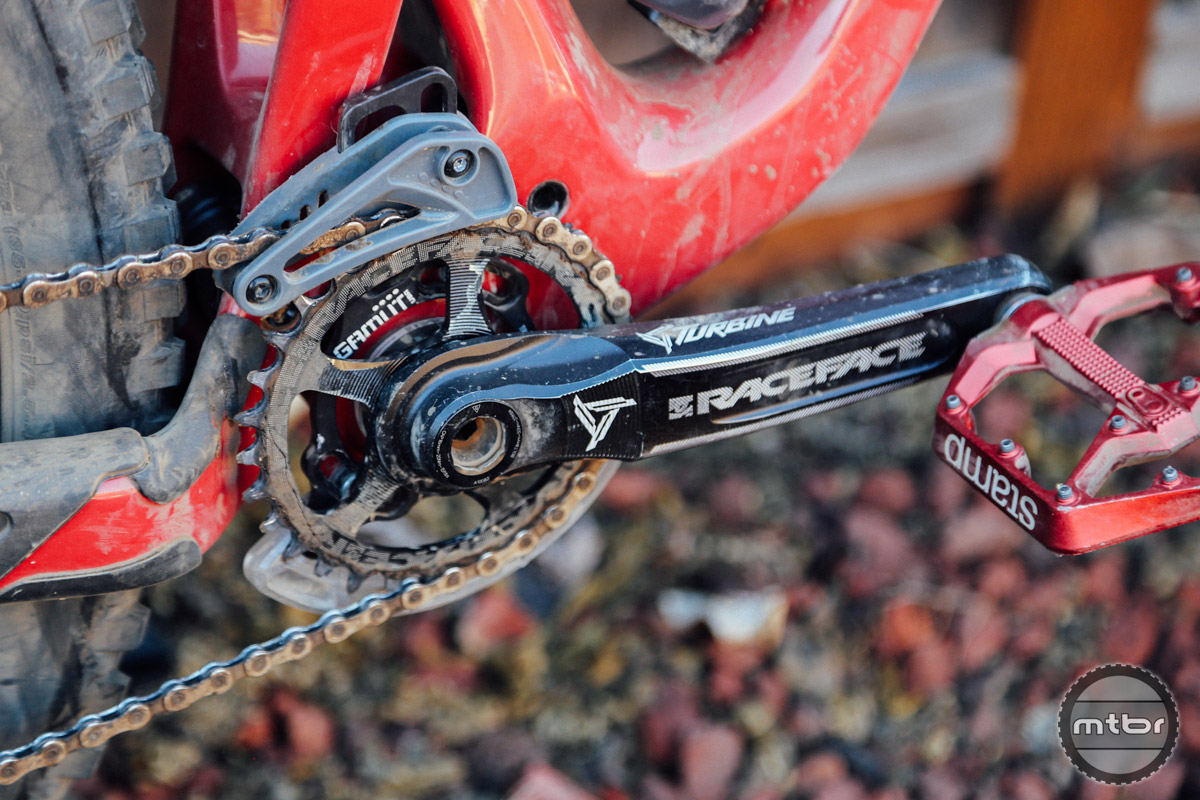The Trail SXR is a lightweight 1x guide designed to be used in conjunction with a narrow wide ring or clutch equipped derailleur.