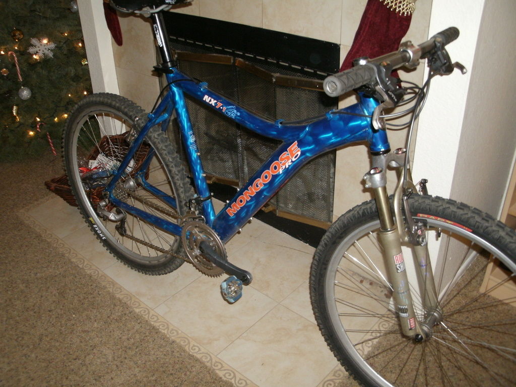 Free Shipping Buy 26 Mongoose Dolomite Mens 7speed Fat Tire Mountain Bike Navy BlueRed at Walmartcom
