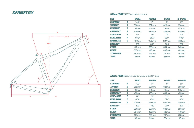 Ibis DV9 Geo Chart