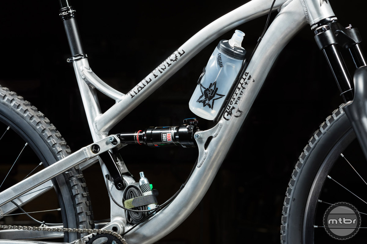 Guerrilla Gravity is using what it calls a combination of Horst Link and the single pivot used on its Megatrail bike.