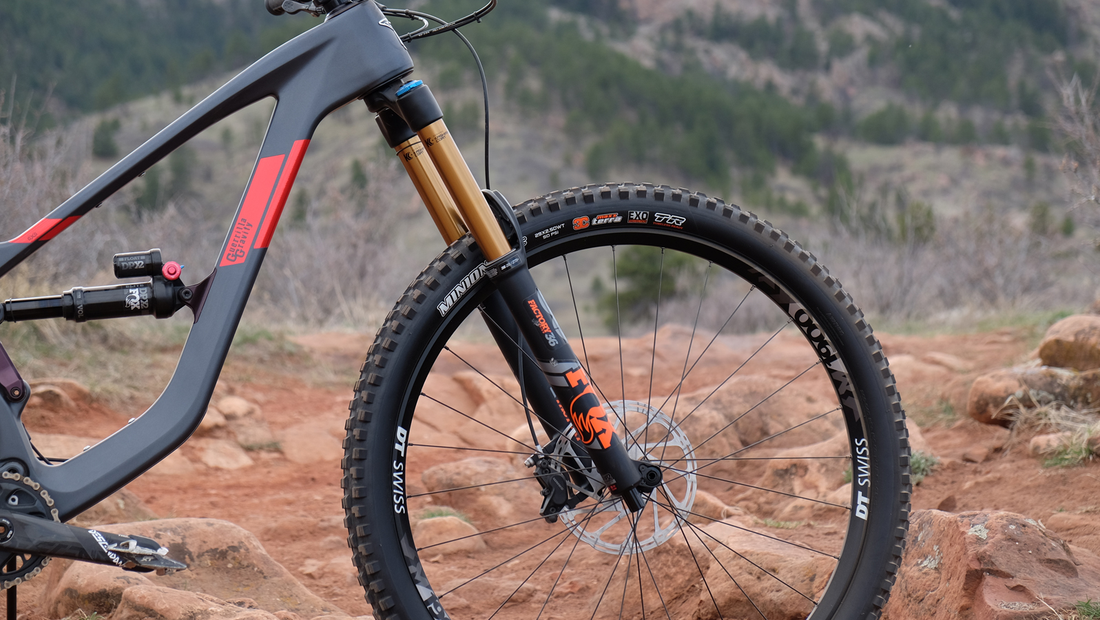 The slack head angle and 170mm fork are great at speed, but can be cumbersome on mild terrain.