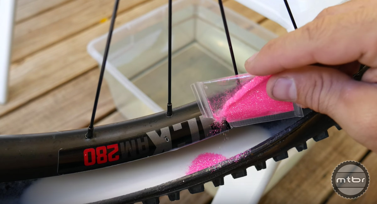 Does adding glitter to tire sealant really work? One YouTuber decided to find out.
