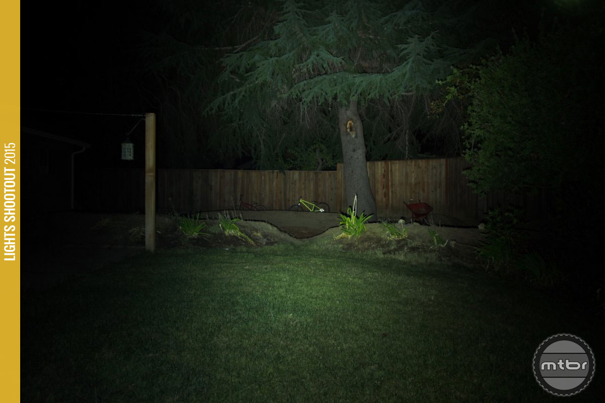 Gloworm X1 Backyard Beam Pattern