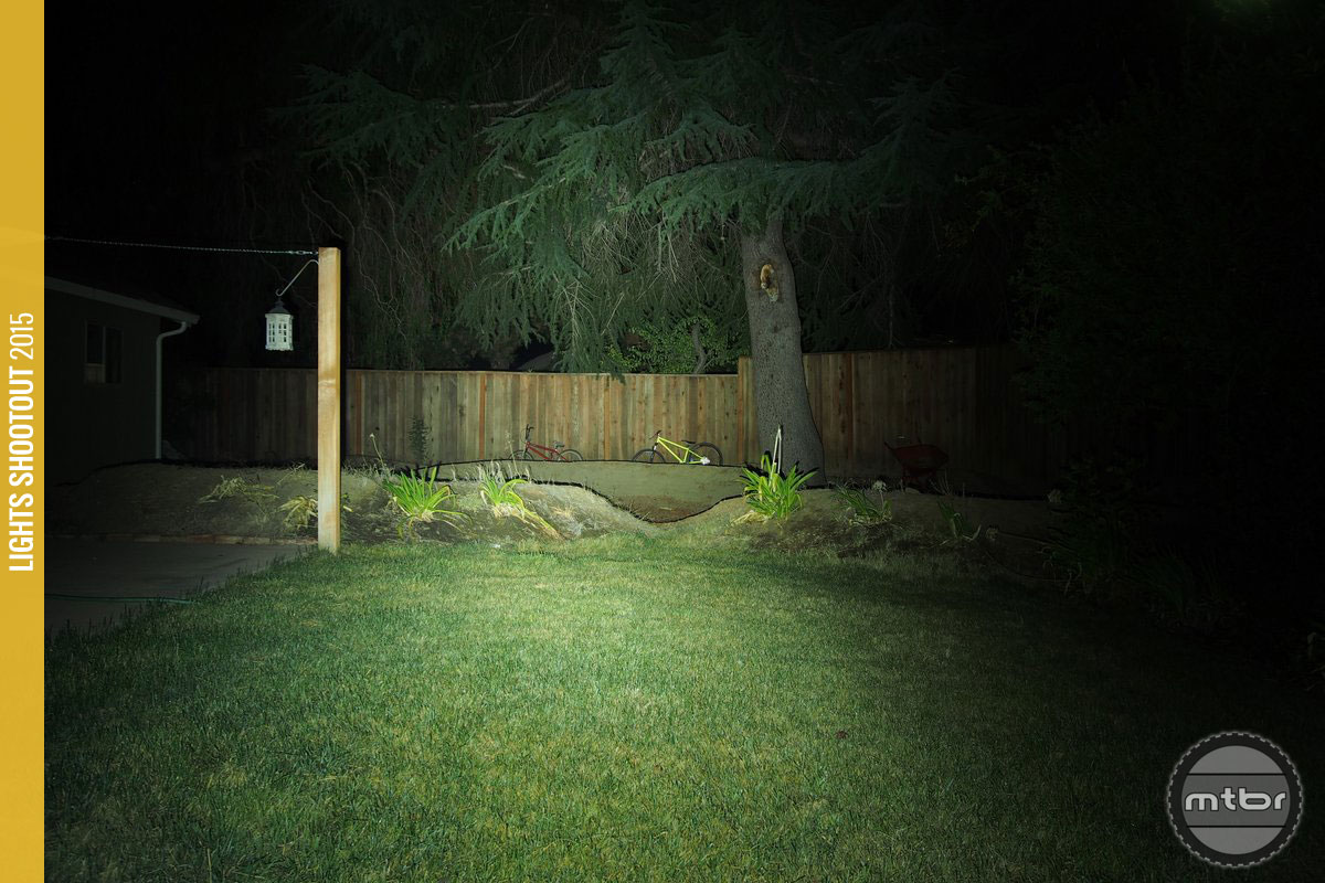 Gloworm X2 Backyard Beam Pattern