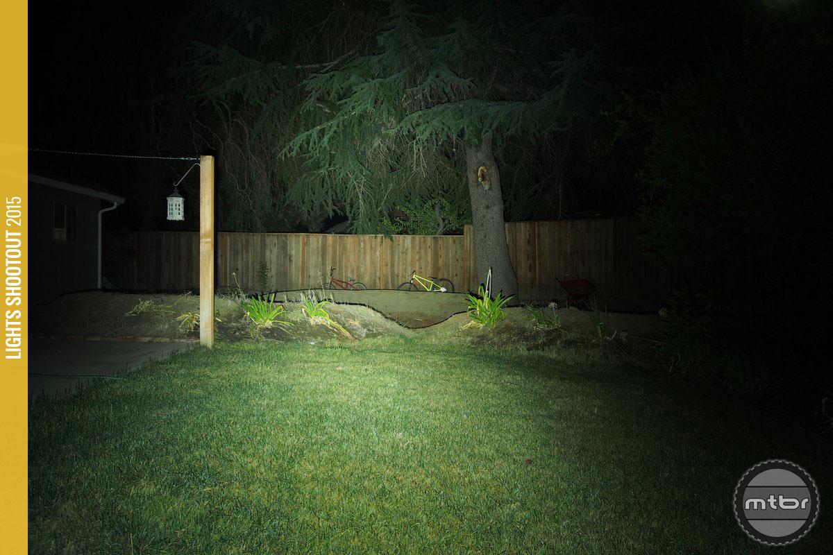 Gloworm X2 Backyard Beam Pattern