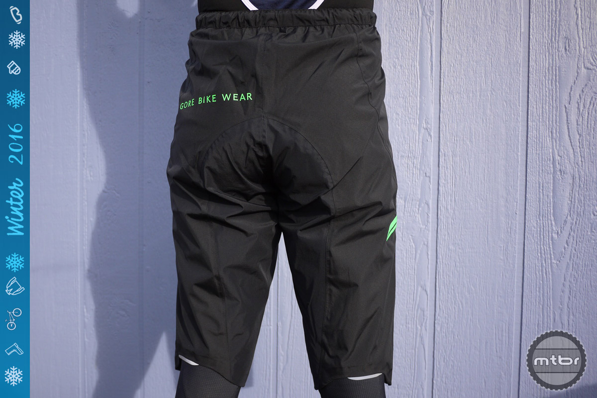 These shorts from Gore are constructed using Gore-Tex waterproof, breathable material.