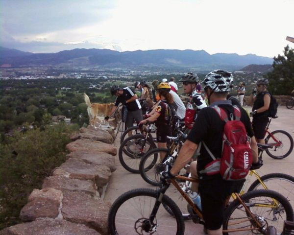 Springs Evening ride 7/11/12 -- Palmer Park-group-1.jpg