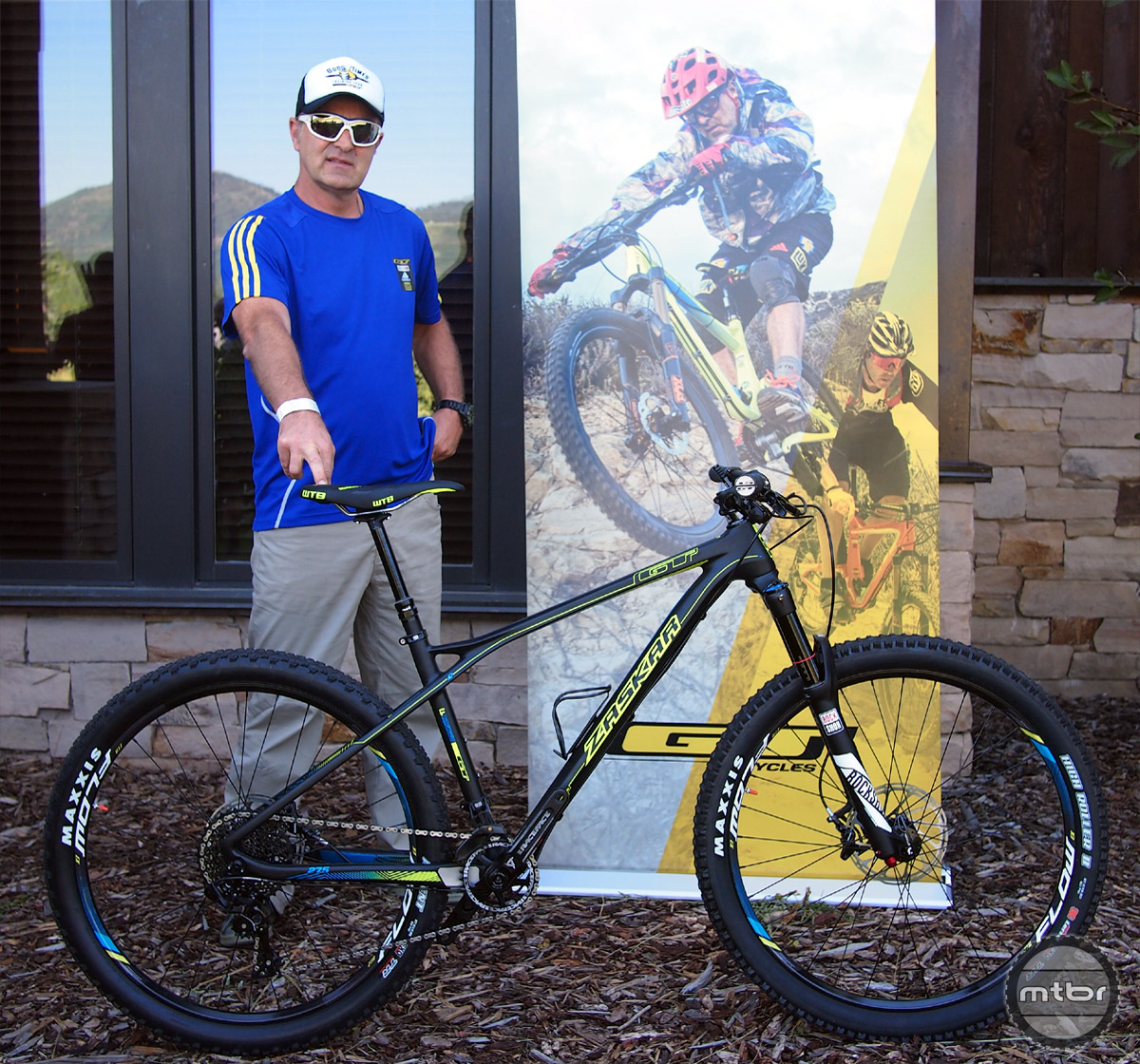 Mountain biking legend Hans Rey has been with GT Bicycles forever and he enjoys riding his Zaskar LTD Carbon.