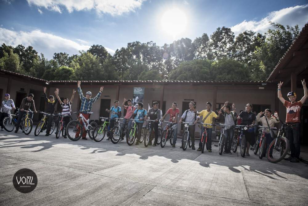 Bikes were donated to a local school in need.