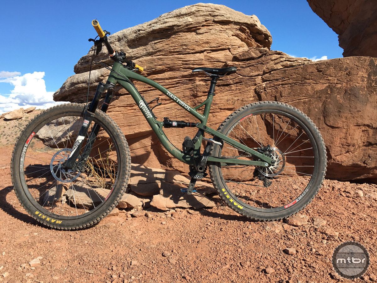 The RockShox Monarch shock was just okay, but we felt the bike could be a little more plush with something else back there.