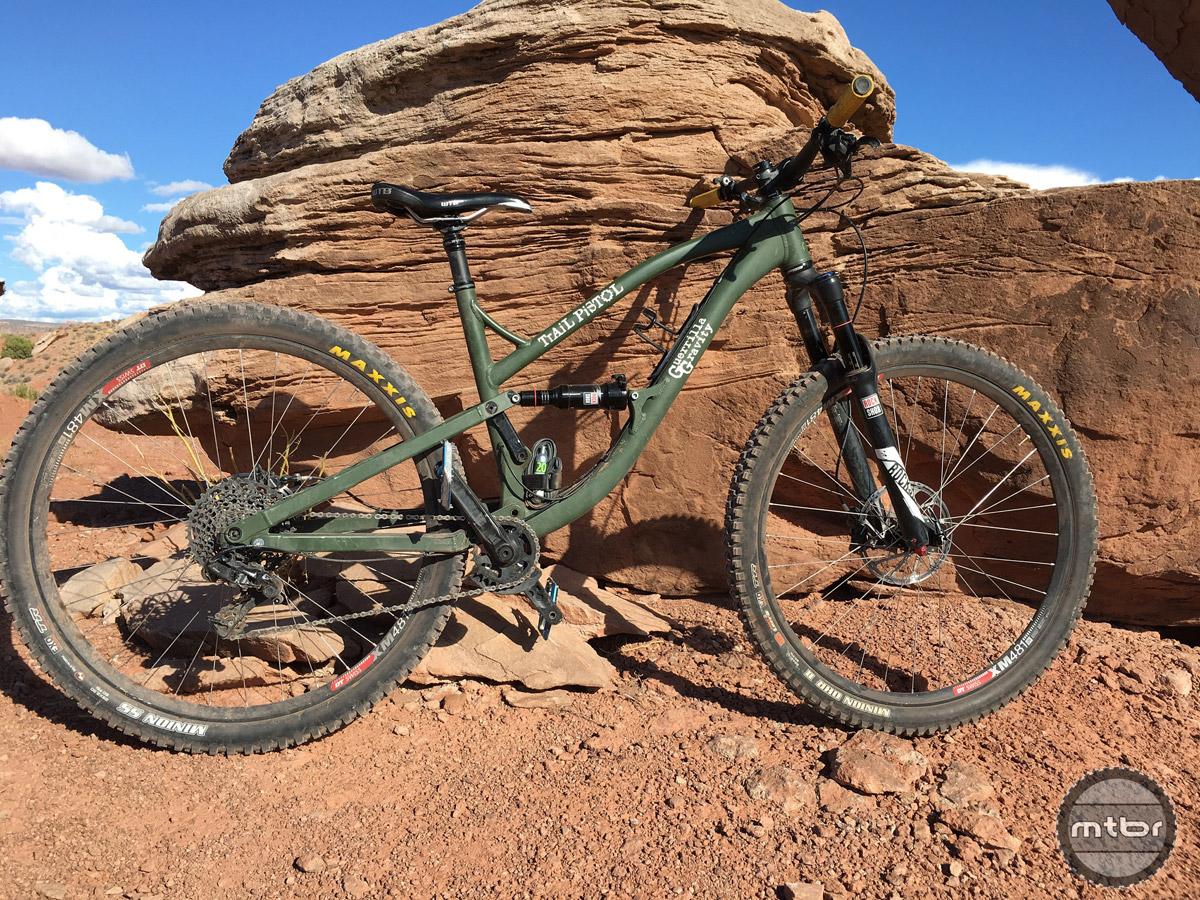 The Trail Pistol really comes alive at speed, feeling solid and controlled on rough descents.