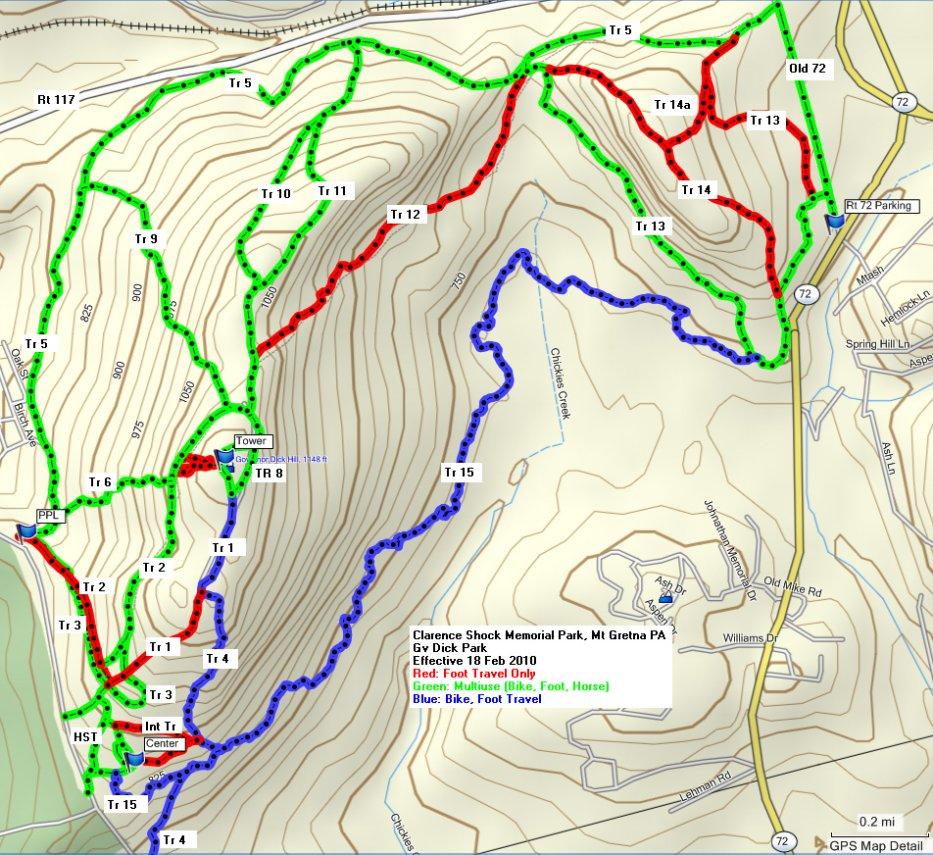 Governor Dick /Mt. Gretna trail 4 open again for mountain biking-gv-dick-18-feb-2010-new-tr-designations-b.jpg