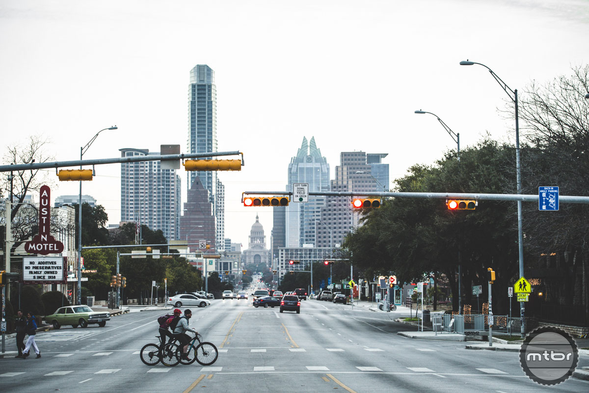 Austin, Texas is known for a lot of things: live music, barbeque, and the Longhorns. We found all those things, but we also found a cycling rich town with a small, but quality trail network. Photo courtesy of SRAM