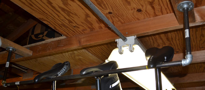 storing from mounted r ceiling in bikes t storage garage best hanging design a hang ideas bike how regarding to inspirations c inside the f way ceilings